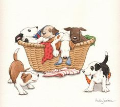 Anita Jeram - From the book 'Puppy Love' published by Walker Books Ltd in 1997