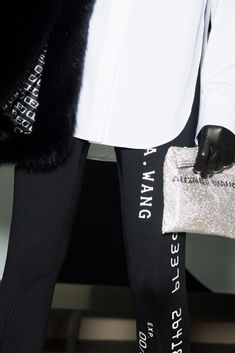 Keep it sporty with the new Alexander Wang collection. Sporty Outfits, Sporty Style, Sports Leggings, Black Leggings, Alexander Wang, Clothes For Women, Hoodies, Womens Fashion, Model