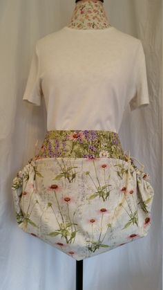 Cheery floral and herb harvesting apron by NWCreativeKeepsakes on Etsy Waist Apron, Gardening Apron, Apron Pockets, Aprons, Mother Day Gifts, Favorite Color, Harvest, Purpose, Birthday Gifts