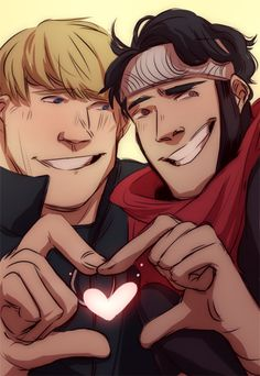 commission for @thewickling ! Hulkling e Wiccano