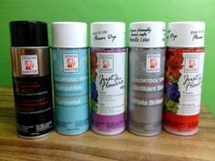Floral Spray Paints and Dyes Available at Greenleaf Wholesale Phoenix (602) 264-3781 www.greenleafwholesale.com