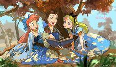 Ariel,Bell,Alice