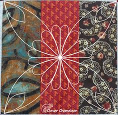 Stylised flower quilting motif
