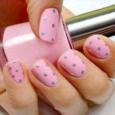 pink glitter dot