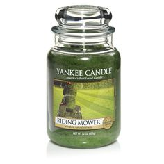 Riding Mower Large Jar  Hot sun. Cool breeze. And the intensely summery scent of freshly cut grass from Yankee Candles UK. Only £19.49   http://www.yankee.co.uk/riding-mower-large-jar