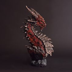 "Red Dragon Bust by FritoFrito.deviantart.com on @deviantART….."" Now that's a DRAGON"""