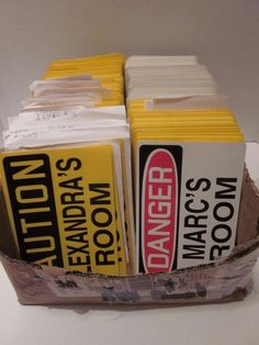 Huge Lot 500+ Caution Girls Danger Boys Name Room Signs Resale Personalized