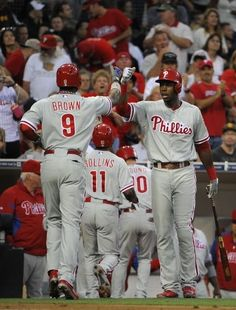 Dominic brown he is a good player for the phillies he is one of my favorite players on the phillies⚾