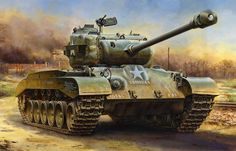 WW2 Tank Paintings / M26 Pershing