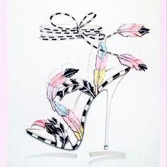 sophia webster shoe illustrations - Google Search
