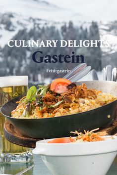 Using only the finest ingredients, Gastein's restaurants, inns and huts conjure up meals that do wonders for body & soul. Regional schnapps and Austrian wines, traditional favorites and acclaimed gourmet menus, from regional to international: Gastein effortlessly brings together seeming opposites, melding them to create an overall dining experience that is absolutely unforgettable. Schnapps, The Conjuring, Regional, Wines, Restaurants, Bring It On, Meals, Traditional, Dining