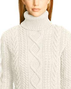 Aran-Knit Turtleneck - Crew & Boatnecks  Sweaters - RalphLauren.com