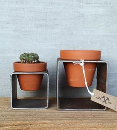Steel Planter Pair by Iron and Dibble on Scoutmob Shoppe