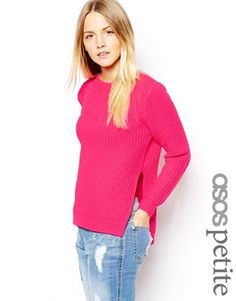 ASOS+PETITE+Chunky+Jumper+With+Side+Split+Detail