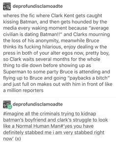 I'm not really a DC fan and I didn't even know people shipped Batman and Superman (I should've know) but this is hilarious so I'm pinning it.