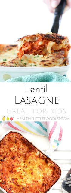This red split lentil lasagne is a perfect dish for the whole family. It is a brilliant dish for baby led weaning (BLW) too. An great vegetarian lasagne via @hlittlefoodies