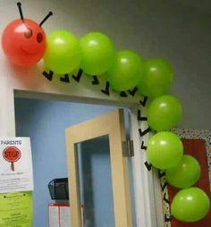 Caterpillar back to school door decoration