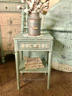 Mint Green & Cream Theme. #shabbychicfurnitureprojects