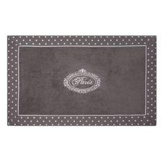 Paris - Tapis de bain en coton gris 50 x 80 cm