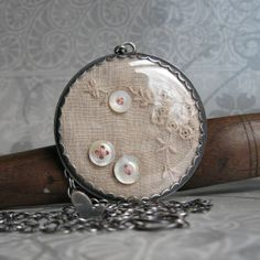 what a great idea...could also use vintage laces as well...this woman's work is wonderful