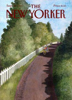 New Yorker Magazine Original Cover - Home From School - September 29, 1986