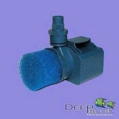 """Triton Series Pump by Deep Blue Professional. $61.67. 120V - 60HZ.. Ceramic shaft & impeller. Fits 1"""" Threaded fittings. Triton4 - 1050GPH / 10.5FT / 40WOptimized for reef, ponds & freshwater aquaria. Powerful head pressure and high flow throughput. Designed with integrated cooling chambers for use inline or fully submerged. Efficient, low energy consumption with UL listed grounded cord & silicon seals.Included Components: Inline pump cover. Submersible pump cover. Pre-filter spo..."""