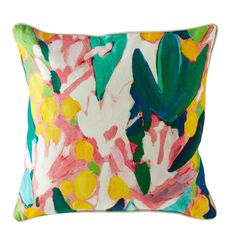 Shop Floral Pattern Throw Pillow.  Our floral pattern throw pillow features a gorgeous combination of print details, and was based on Lulu DK's paintings.  Shop for throw pillows today.