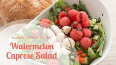 In this video Aviva Goldfarb shares a no cook summer dinner recipe, watermelon caprese salad, using watermelon, marinated mozzarella and arugula for a fresh . Caprese Salad Recipe, Salad Recipes, Healthy Family Meals, Family Recipes, Healty Dinner, Quick Easy Dinner, Sugar Free Recipes, Easy Weeknight Meals, Kid Friendly Meals