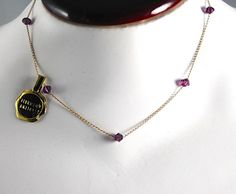 FEBRUARY Choker Necklace Vintage Fine Gold by ErikasCollectibles