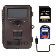 The brown Trophy Cam HD Max Trail Camera from Bushnell is a trail / wildlife camera with an 8MP image sensor. Capture images and video from a remote location, rather than while physically holding the camera