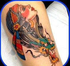 Traditional tattoo by Don Yarian. #tattoo #tattoos #ink