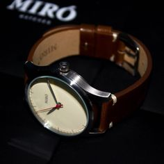 Miró Watches — Creme Face Chocolate Strap