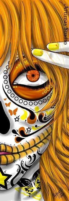 Orange death bookmark for sale 3$