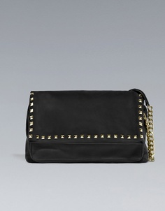STUDDED SUEDE CITY BAG