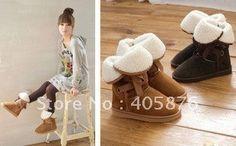frete grátis laço de lã de inverno neve mulheres senhoras botas sapatos US $13.99