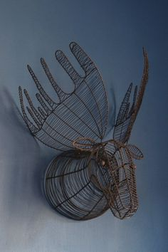 Wire Moose Head Wall