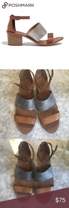 Madewell metallic heeled sandal Madewell warren heel! In really great condition and only worn a feel times! Just wasn't really my style! No trades but make me an offer 🤗 Madewell Shoes Sandals