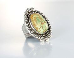 Paua shell sterling silver Ring Navajo ring jewelry by RMSjewels
