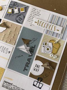 """Anne : pages """"entre 2 saisons"""" - Scrapbook Travel Album, Album Photo Scrapbooking, Mini Albums Scrapbook, Scrapbook Journal, Scrapbook Layout Sketches, Scrapbook Designs, Album Photo Voyage, Mind Map Art, Book Crafts"""
