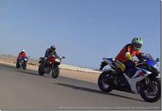 Viajar en grupo en moto...