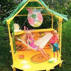 Barbie Island Fun Hut Bungalow by Mattel, 1987 Barbie 80s, Barbie Doll Set, Play Barbie, Vintage Barbie, Vintage Toys, Barbie Stuff, Barbie Dream, Barbie House Furniture, Barbie Playsets
