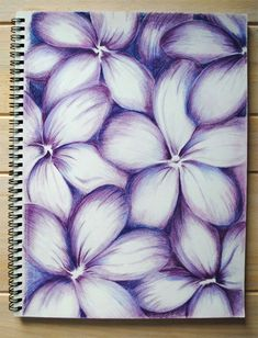 Colored Pencil Techniques. Abstracts  with purple flowers to give you ideas for coloring. #coloredpenciltechniques