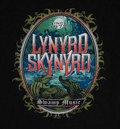 Lynyrd Skynyrd Swamp Music T-shirt XL SS Black Alligators Cotton Mens Tour Posters, Band Posters, Art Music, Music Artists, Ronnie Van Zant, Classic Blues, Black Label Society, Lynyrd Skynyrd, Blues Rock