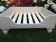 Luxury Raised Wooden Dog Bed, Hand Made in Various Sizes and Farrow and Ball Colours Eco Friendly