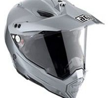 the AX-8 has evolved into a dual sport, now boasting a visor and specific visor mechanism and air vents on the chin and top of the helmet which can be opened for increased comfort. It's ultra-light, composed of Kevlar, SSL carbon and fiberglass, with an anti-fog polycarbonate face shield and plenty of facial padding.