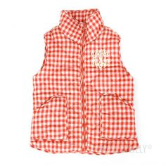 LAST CALL! Our Monogrammed Gingham Quilted Vest is on sale for just $24.99 - that's $35 OFF! ***While supplies last!***