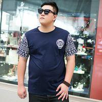 Moda 2015 tamanhos grandes verão Casual impressão Tees clássicos Plus Size roupas masculinas mangas curtas TX123