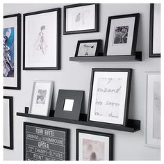 IKEA - MOSSLANDA, Picture ledge, 45 ¼ , , The picture ledge has a special groove to keep smaller frames at the perfect angle.The picture ledge makes it easy to vary your favorite motifs as often as you like. Photo Ledge Display, Ikea Picture Ledge, Photo Shelf, Picture Shelves, Picture Wall, Ikea Mosslanda, Mosslanda Picture Ledge, Diploma Display, Gallery Wall Layout