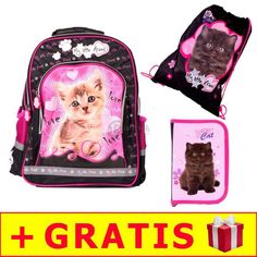 3-zestaw-my-little-friend-kot-plecak---piornik-bez_1 Lunch Box, Friends, Cats, Gatos, Amigos, Boyfriends, Bento Box, Kitty, Cat