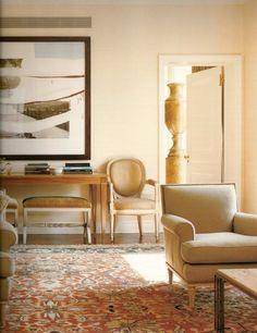 A living room designed by Jed Johnson. Photo by François Halard.